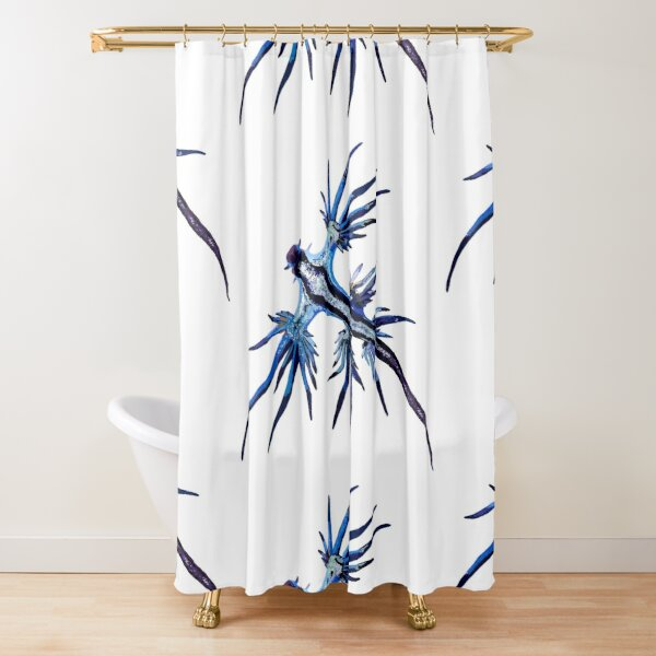 Blue Nudibranch Shower Curtain