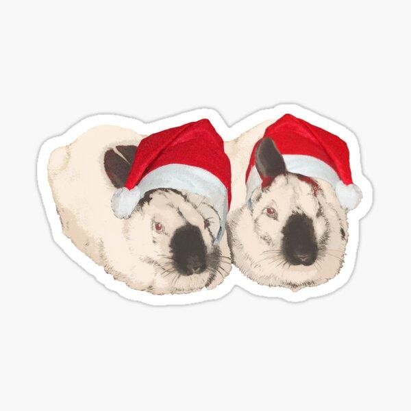 Christmas Rabbit Sticker