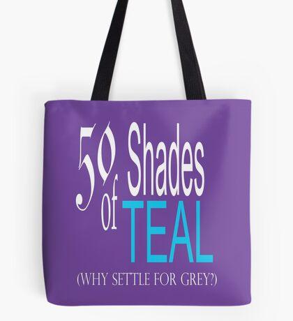 50 Shades of Teal ... Tote Bag