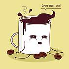 Coffee Mug Addicted To Coffee by EuGeniaArt
