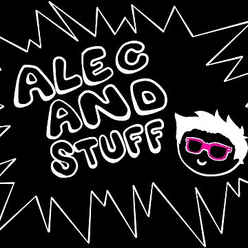 New alecandstuff Logo (White Transparent) by alecandstuff