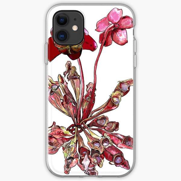Pitcher Plant, Sarracenia purpurea iPhone Soft Case