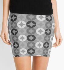 Gray Circle Print 2 - Mid Century Modern Mini Skirt