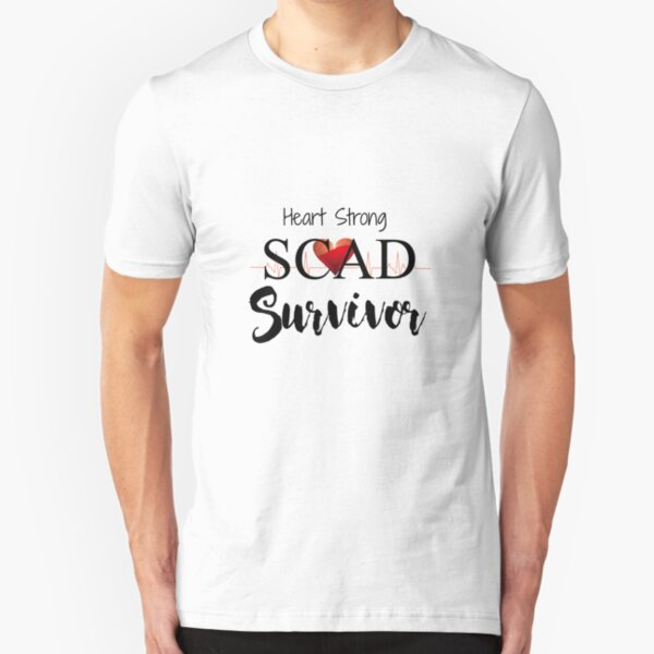 SCAD Heart Survivor Awareness Women Slim Fit T-Shirt