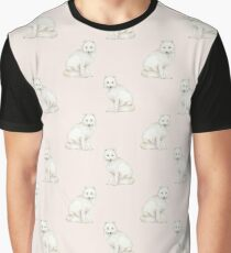 Arctic Fox pattern on baby pink Graphic T-Shirt
