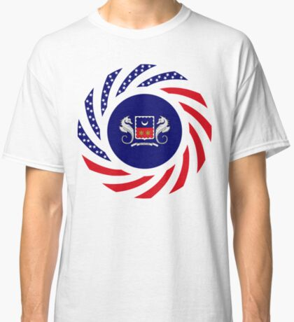 Mahorai American Multinational Patriot Flag Series Classic T-Shirt
