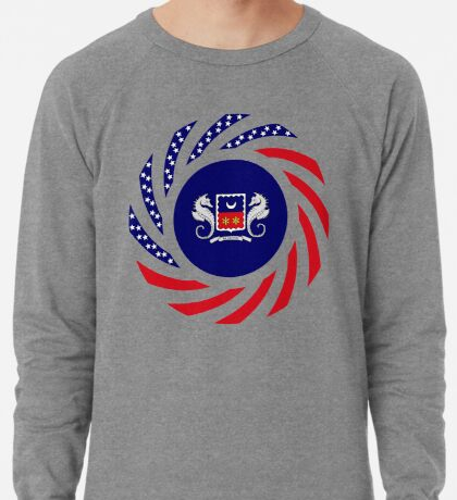 Mahorai American Multinational Patriot Flag Series Lightweight Sweatshirt