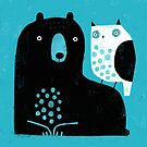 BEAR &  OWL BLUE by Terry Runyan