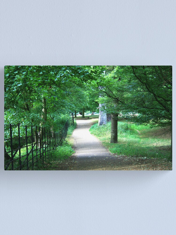 Alternate view of A Path Through The Green Canvas Print
