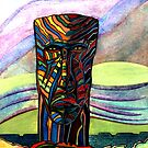 175 - INSPIRED BY STEVE'S CARVINGS - DAVE EDWARDS - WATERCOLOUR - 2007 by BLYTHART