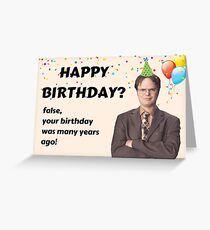 The Office card, The Office Tv show gift, Dwight Schrute card Greeting Card