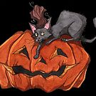 Jack O' Lantern Cat by Tally Todd