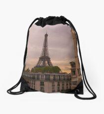 Eiffel Tower at Sunset Drawstring Bag