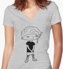 Hey Arnold ! Women's Fitted V-Neck T-Shirt