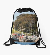 Jetty on Bluewater Drive, Narooma Drawstring Bag