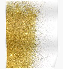 Gold Glitter Art Poster