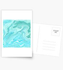 Blue Marble Pattern Postcards