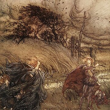 Arthur Rackham vintage illustration from 'the Ring' by Geekimpact