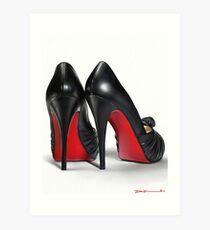 Louboutin shoes painting Art Print