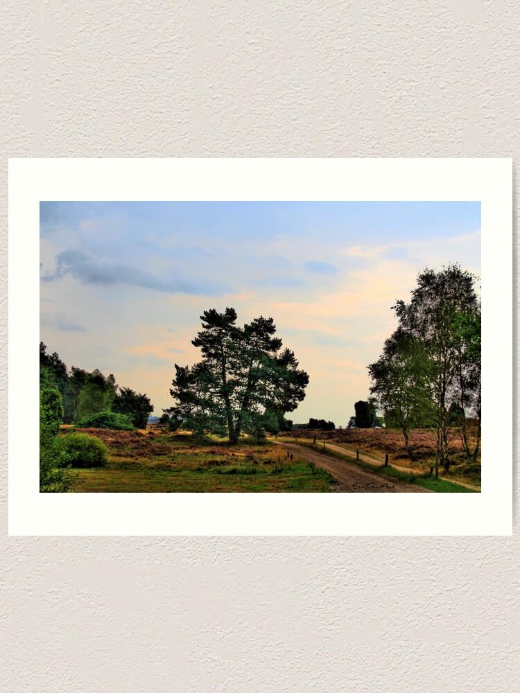 Alternate view of Heideweg Art Print