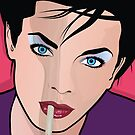 Pop Art Beautiful Woman Smoking Cigarette Popart Girl by Frank Schuster