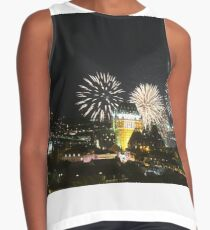 #Quebec, #Canada, Quebec #City, #Streets, #Buildings, #Places, #QuebecCity, #fireworks, #firework, #banger Contrast Tank
