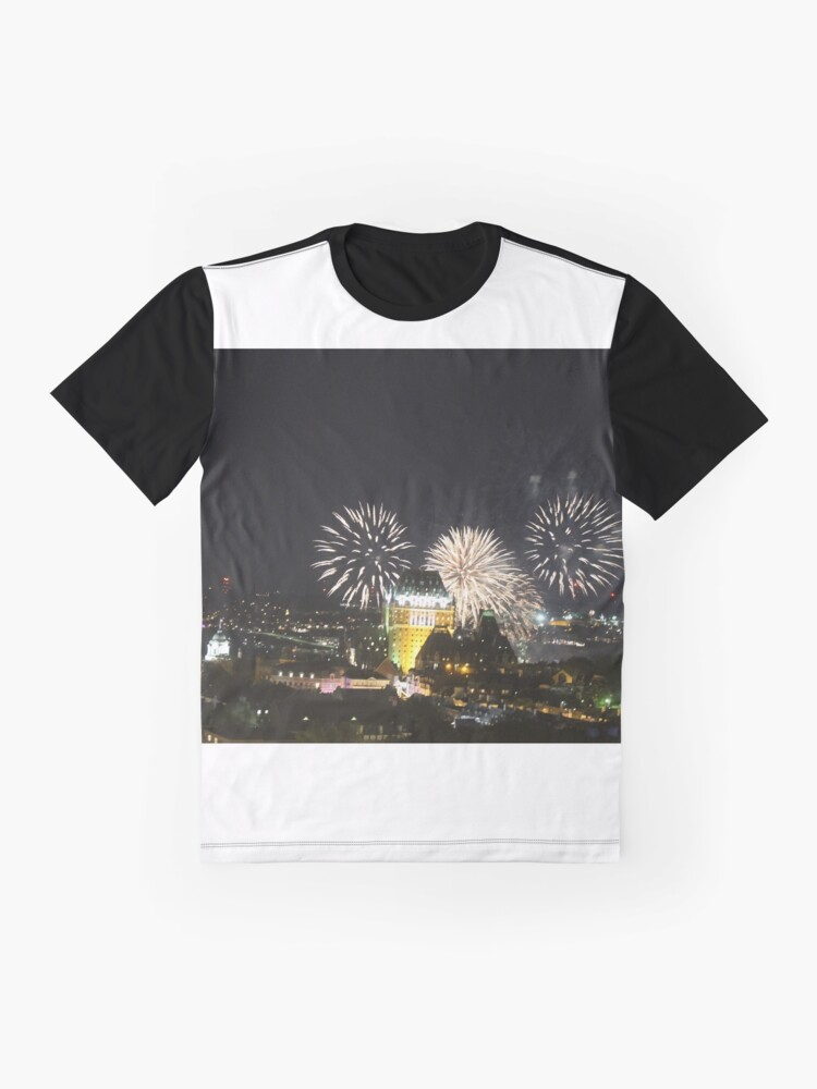 Alternate view of #Quebec, #Canada, Quebec #City, #Streets, #Buildings, #Places, #QuebecCity, #fireworks, #firework, #banger Graphic T-Shirt