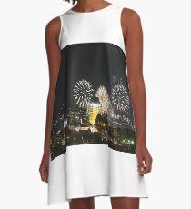 #Quebec, #Canada, Quebec #City, #Streets, #Buildings, #Places, #QuebecCity, #fireworks, #firework, #banger A-Line Dress