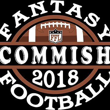 2018 Fantasy Football Commish League Commissioner T-shirt by TeeCreations