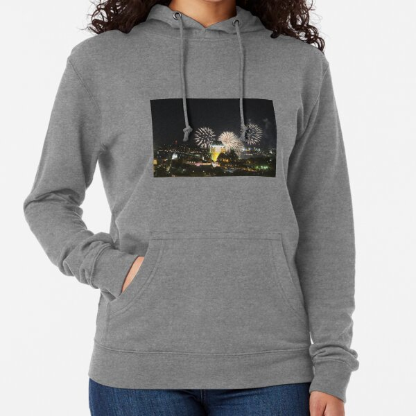 #Quebec, #Canada, Quebec #City, #Streets, #Buildings, #Places, #QuebecCity, #fireworks, #firework, #banger Lightweight Hoodie