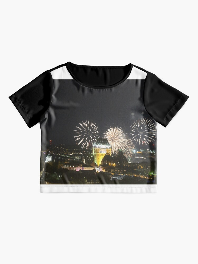 Alternate view of #Quebec, #Canada, Quebec #City, #Streets, #Buildings, #Places, #QuebecCity, #fireworks, #firework, #banger Chiffon Top
