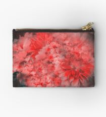 Abstract Red Flowers Zipper Pouch