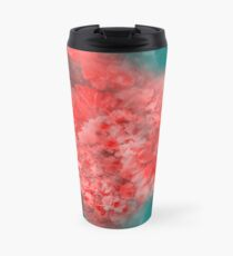 Abstract Red Flowers Travel Mug