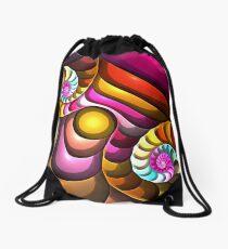 Spirals and Bubbles, abstract fractal wallart Drawstring Bag