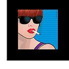 Pop Art Beautiful Woman Cindy Pop Art Girl by Frank Schuster