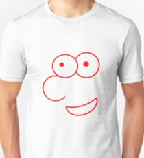 Head with big eyes in red Unisex T-Shirt