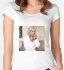 jeffree star sipping tea Women's Fitted Scoop T-Shirt
