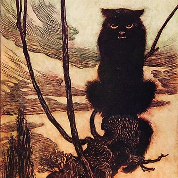 Arthur Rackham - Black cat by Geekimpact