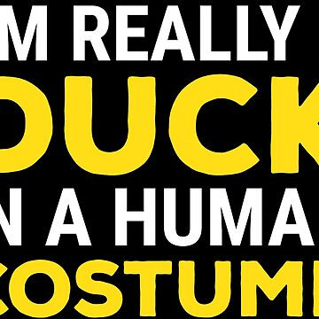 Funny Duck Lovers Human Costume Cool Ducks T-shirt by zcecmza