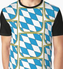 Bavarian blue and white colors Graphic T-Shirt