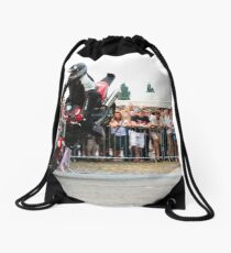 motorcycle stunt 005 Drawstring Bag