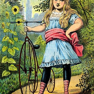 Victorian Girl and her Tricycle by historicimage
