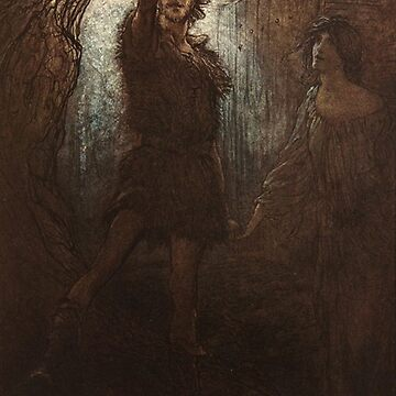 The Ring - Arthur Rackham vintage illustration by Geekimpact
