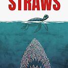 Straws - shark by mavisshelton