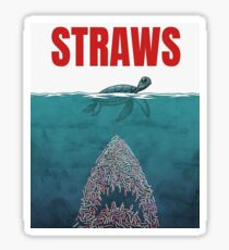 Strohhalme - Hai Sticker