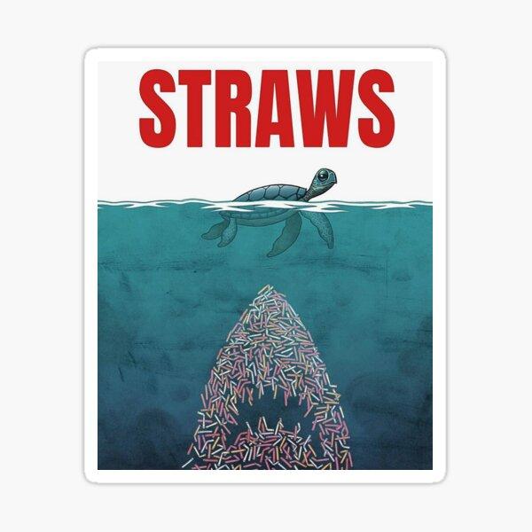 Straws - shark Sticker