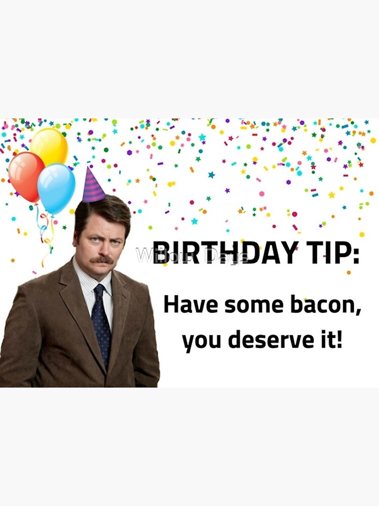 Parks And Rec Ron Swanson Birthday Card Meme Greeting Cards