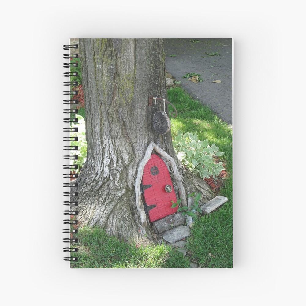 A red fairy door  Spiral Notebook
