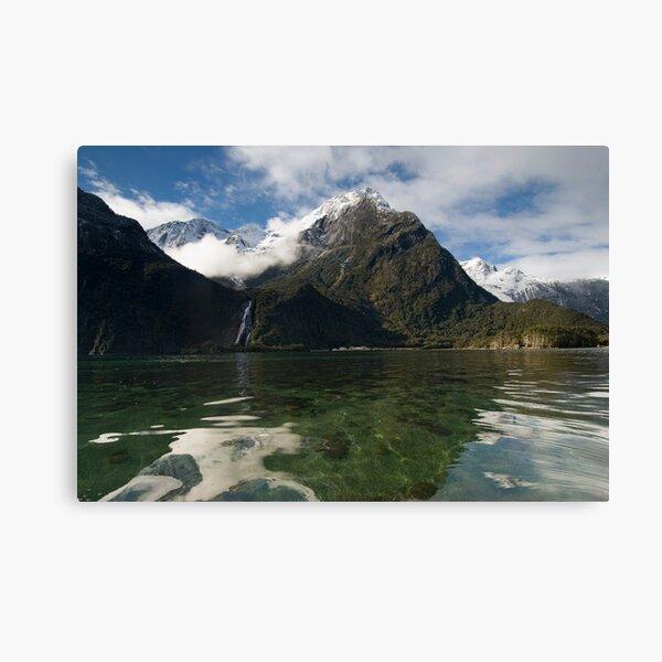 Bowen Falls, Milford Sound. Canvas Print