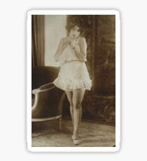 Victorian Vintage Posing Lady Erotic French Sultry Sticker
